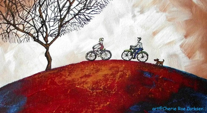 Bicycling Together by Cherie Roe Dirksen
