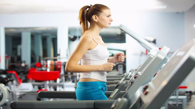 woman on a treadmill-compressed