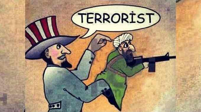 America attacking terrorists it fostered