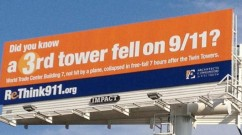 Giant Video Billboard of WTC7's Destruction Placed in Times Square for 911aniversary