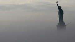 Statue of Liberty through the morning fog from the Staten Island Ferry. (Photo: Brian Angell/flickr/cc)   SPhoto credit: Shutterstock, copyright Misti Hymas