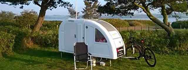 Check Out This Micro Camper You Can Tow With Your Bicycle!