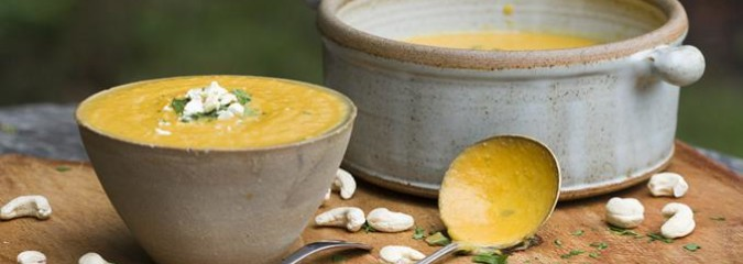Trinity's Delicious, Creamy Cashew Soup with Butternut Squash & Ginger (dairy-free, vegan)