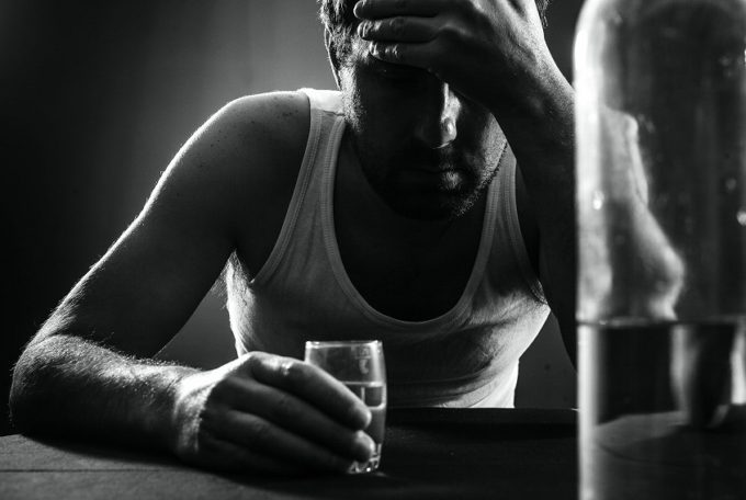 Giving Up Alcohol - Male Drinking