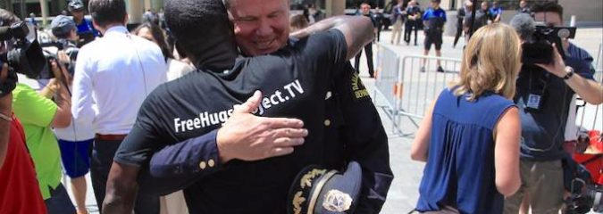 Black Man's 'Free Hugs Project' Focuses On Police, Sheds Light On Their Humanity [Must See Video]
