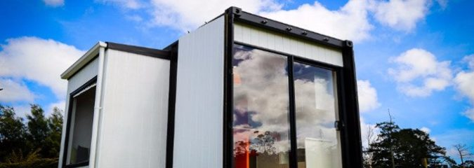 Man Makes a Super Chic Tiny Home Out of a Shipping Container for Under $20,000