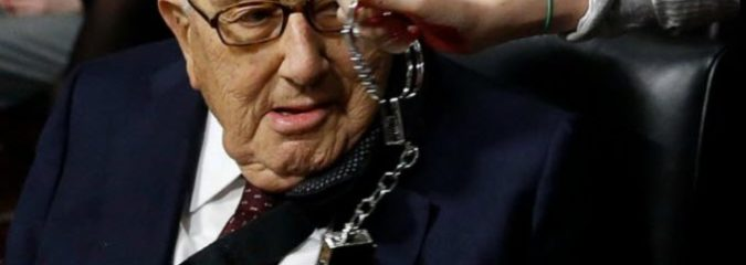 Progressive Groups Call For Henry Kissinger's Arrest At Nobel Peace Prize Forum