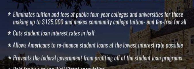 Proposed #CollegeForAll Plan Would Tax Wall Street to Destroy Student Debt Crisis