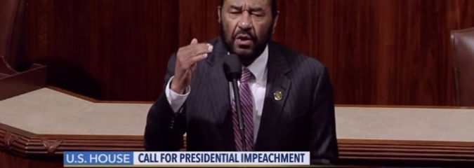 Texas Democrat Calls For Trump Impeachment on US House Floor