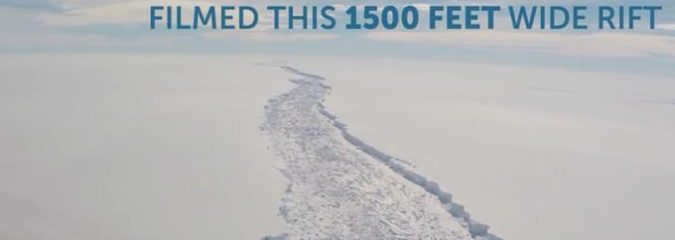 Massive Antarctic Ice Shelf Days From Breaking Off
