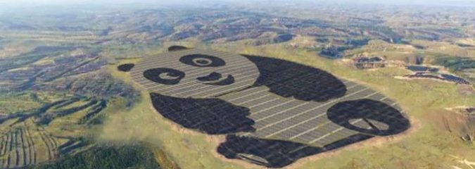 China Unveils World's Cutest Solar Farm In The Shape Of A Panda