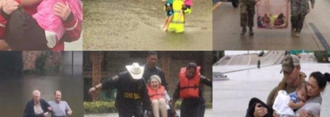 Diverse Groups of People Helping Each Other in Houston Shows Mainstream Media Divide FAIL