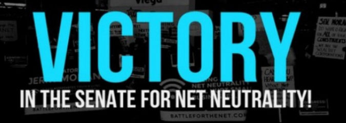'Historic Win' for the Open Internet as Senate Votes to Restore Net Neutrality